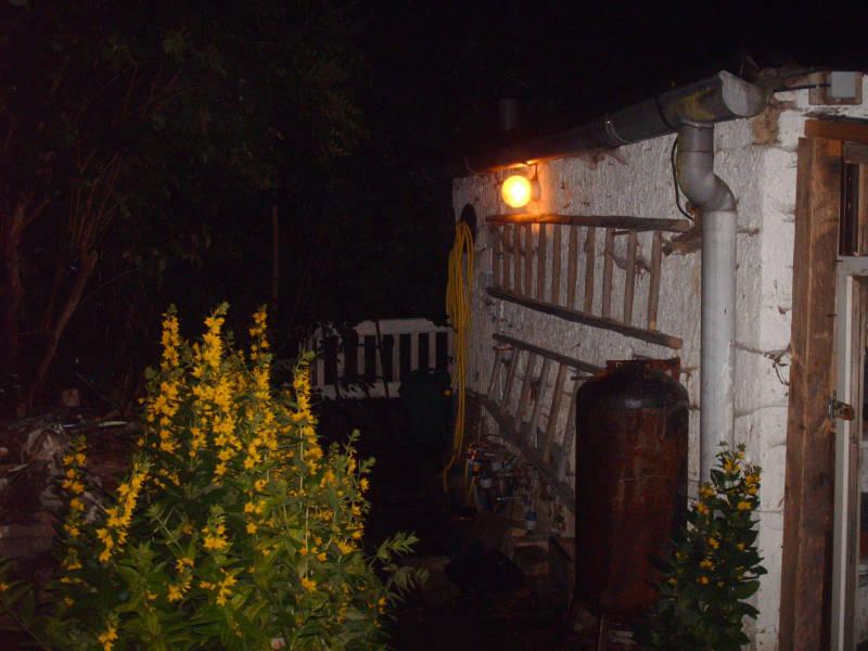 Komposthaufen Beleuchtung