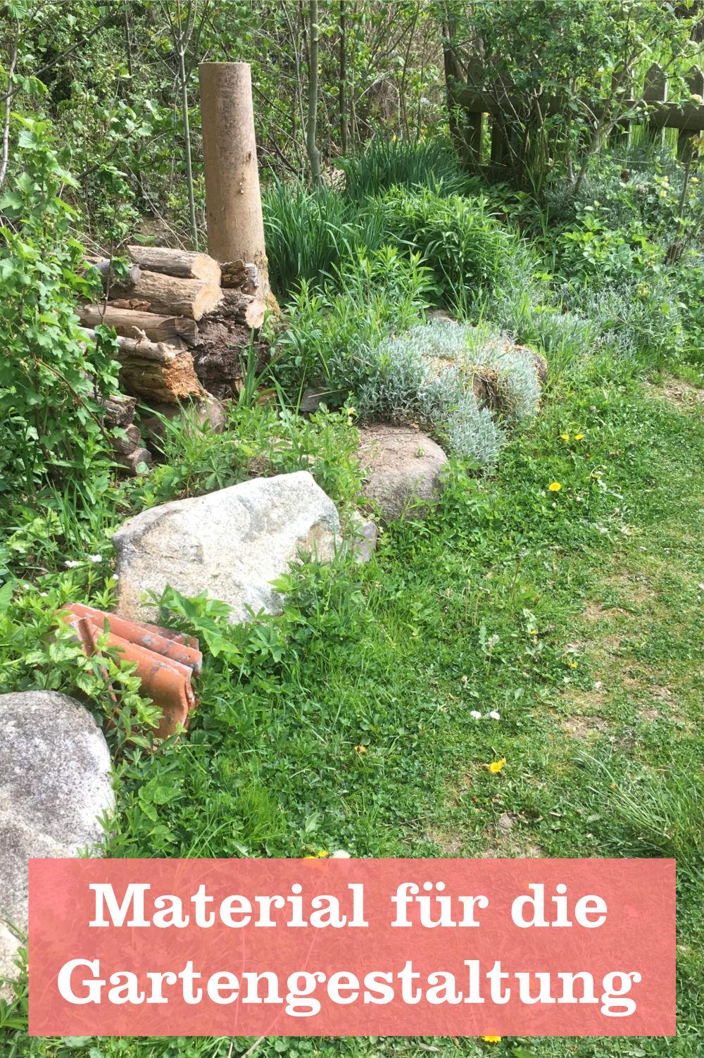 Material für die Gartengestaltung