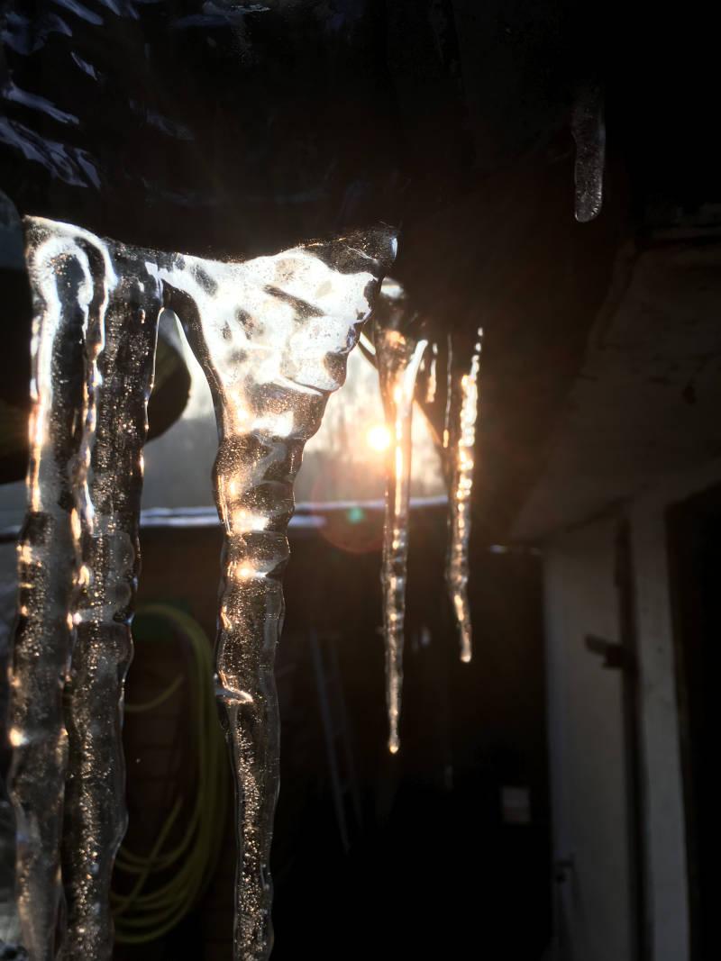 Eiszapfen Gartenhaus