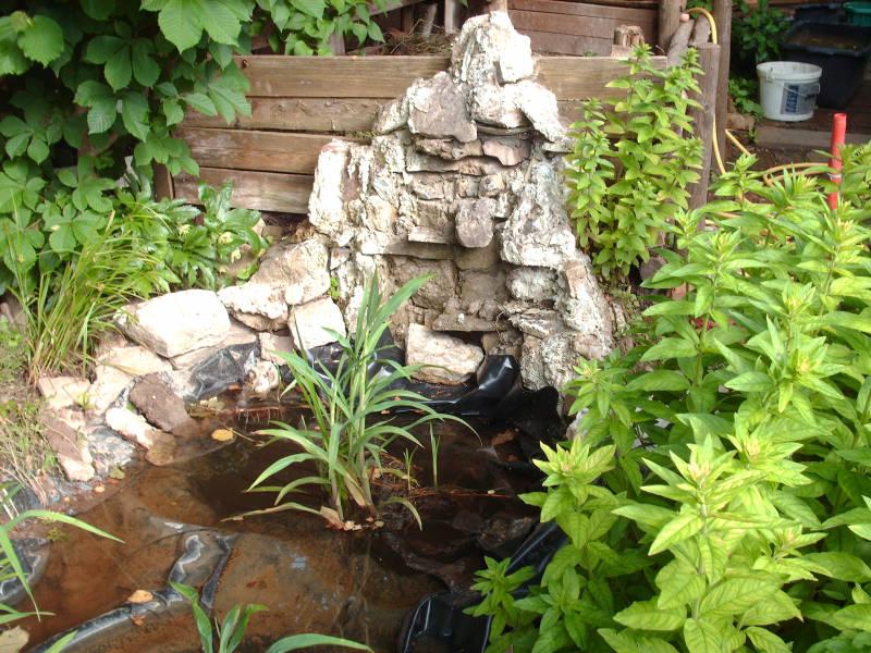 Wasserfall für Gartenteich