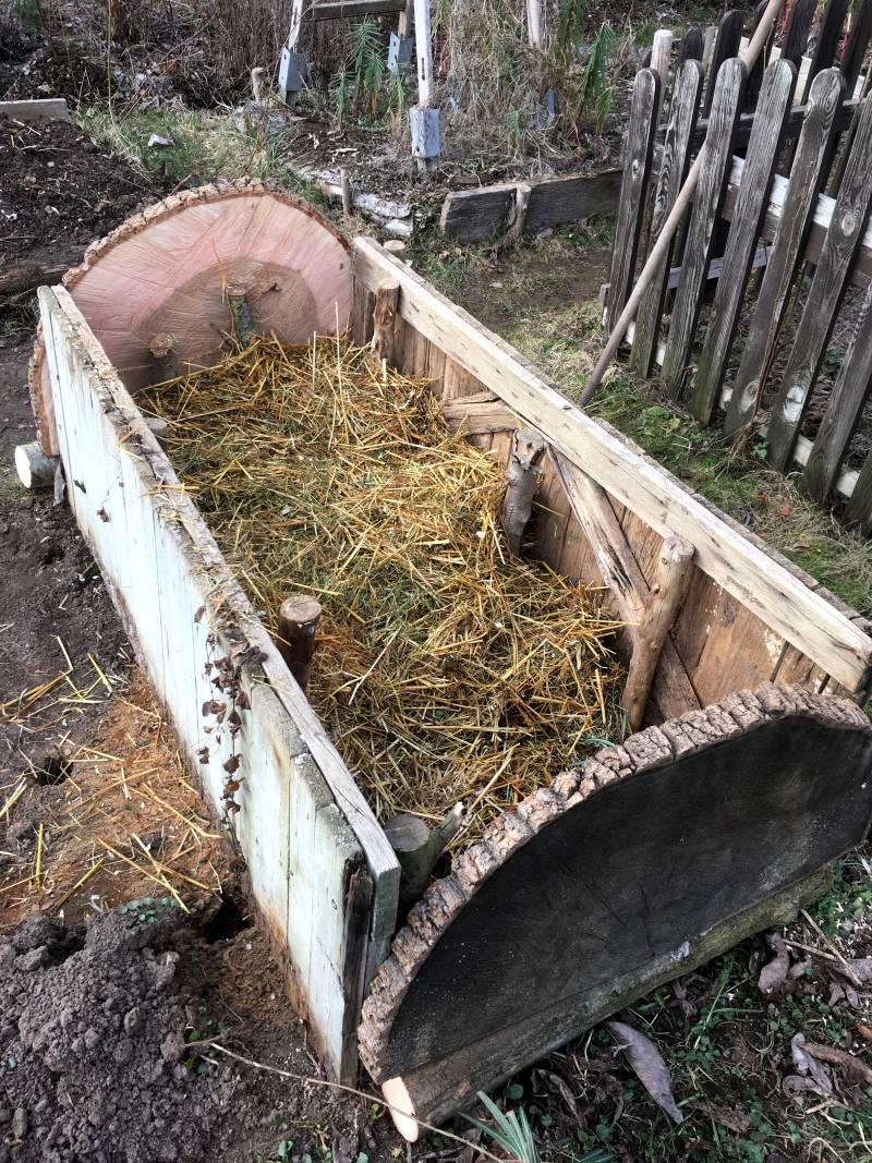 Komposthaufen als Hochbeet