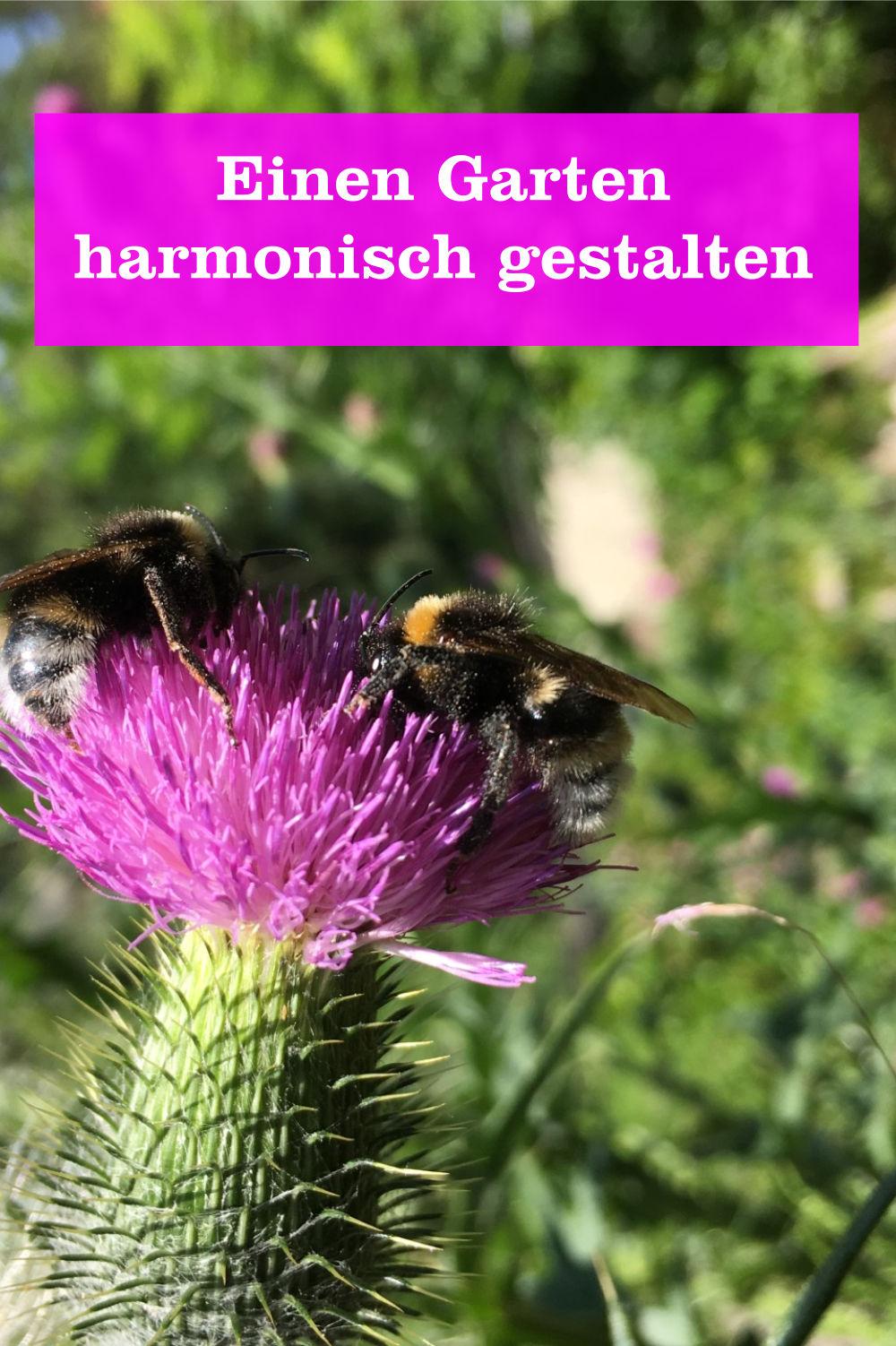 Garten harmonisch gestalten