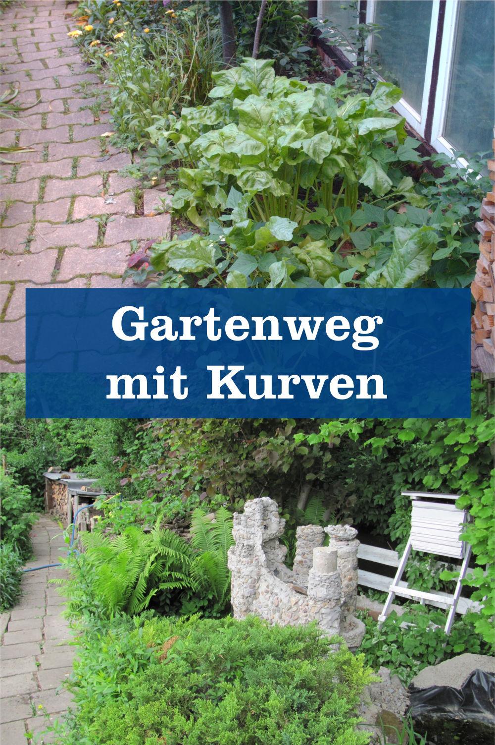 Gartenweg mit Kurven
