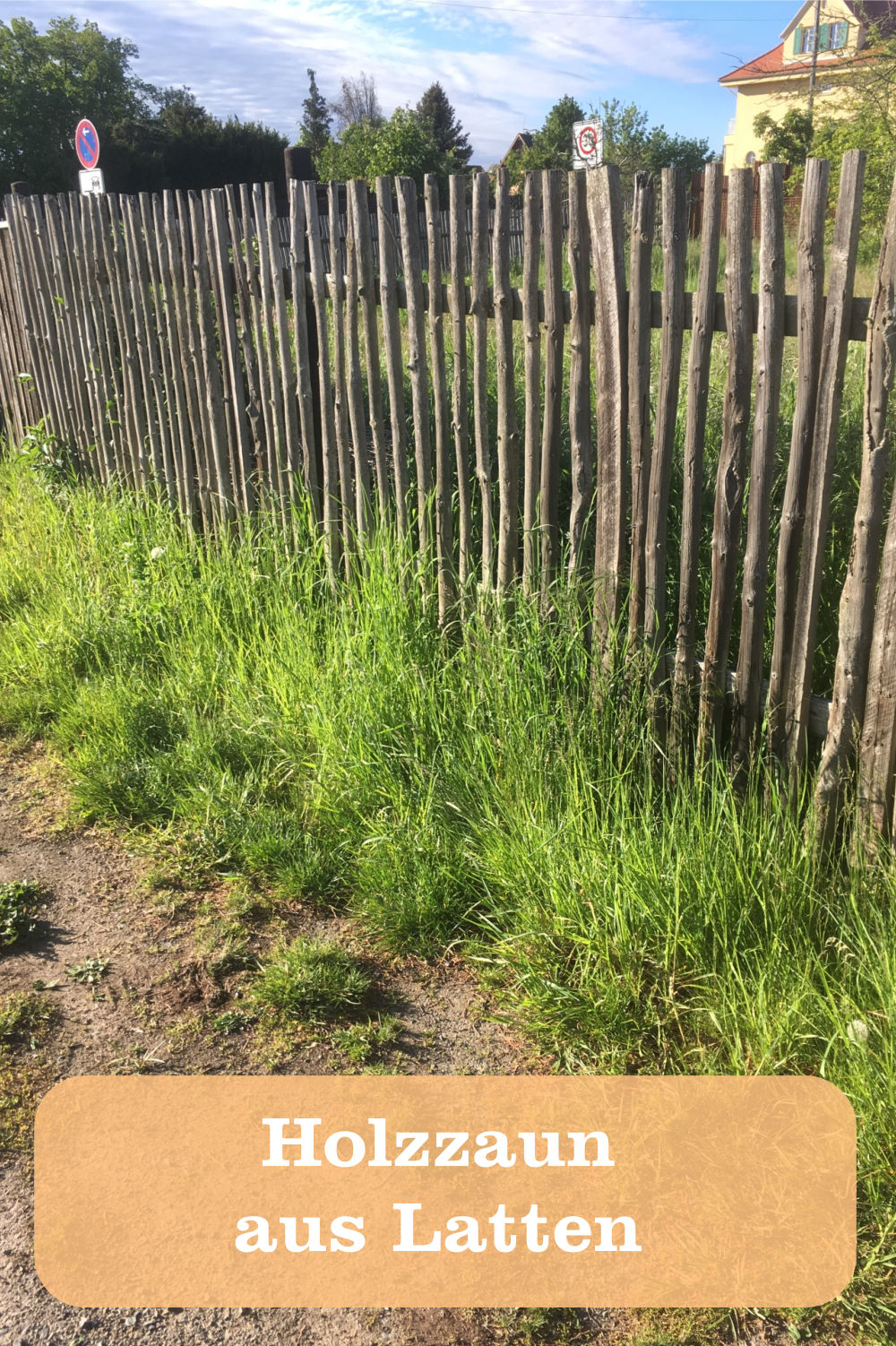 Holzzaun aus Latten