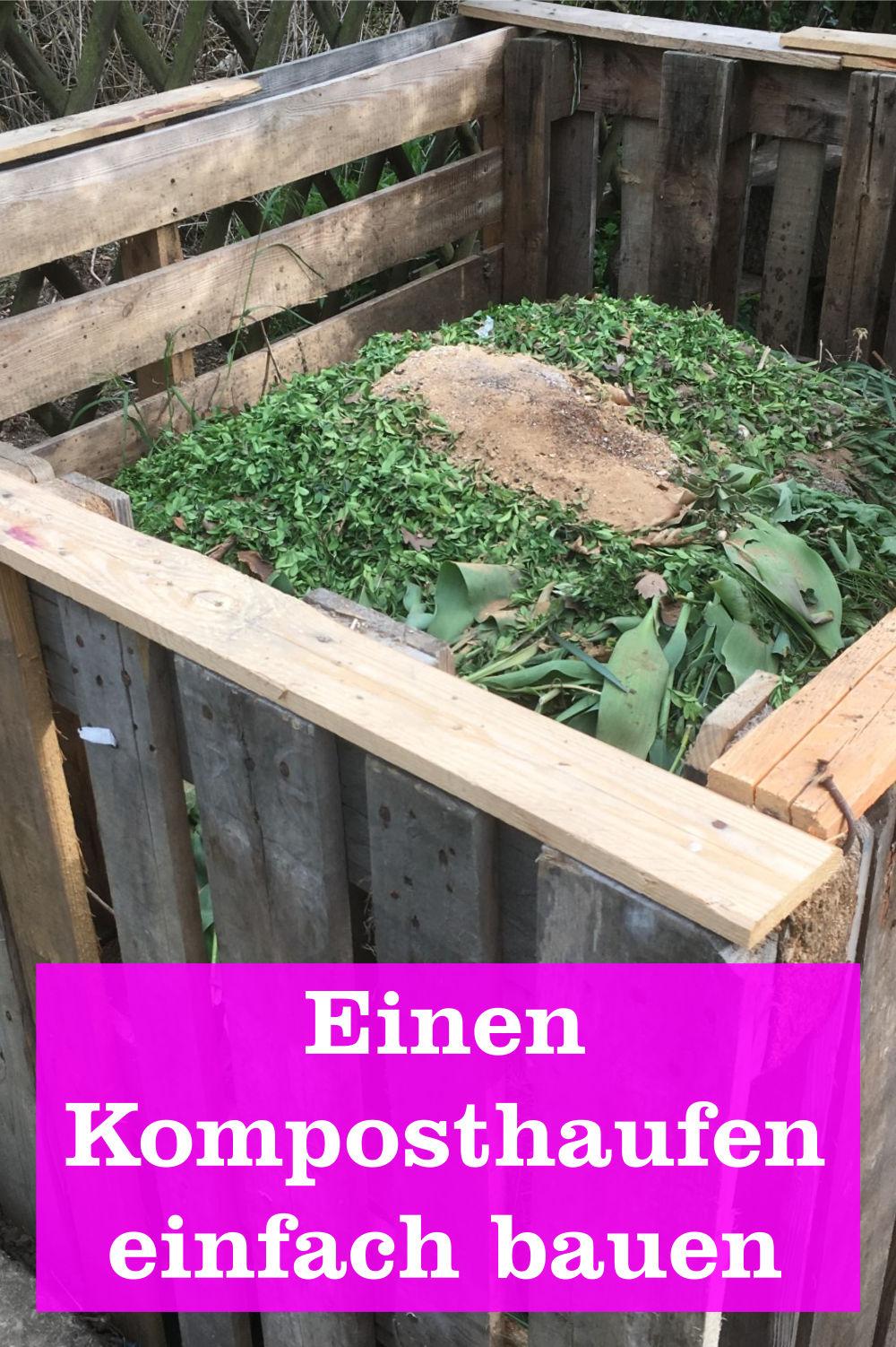 Komposthaufen bauen