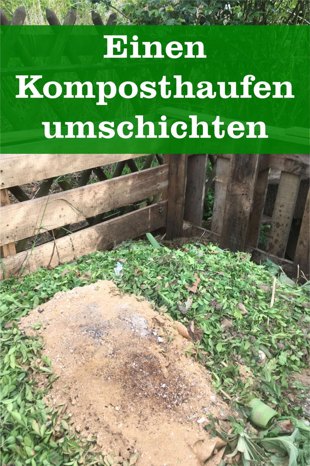 Komposthaufen umschichten