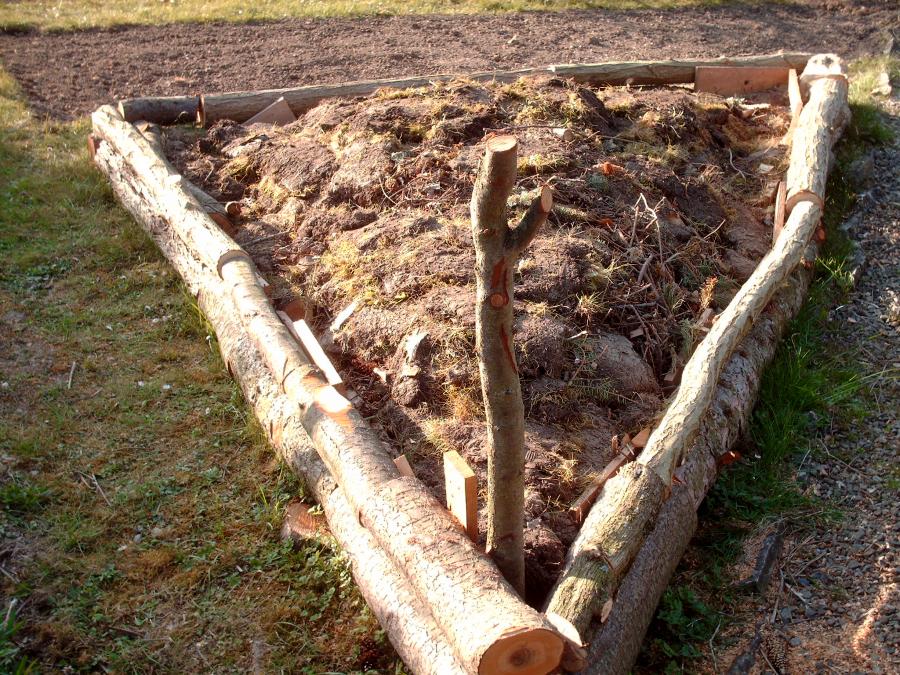 Hochbeet Selber Bauen Welches Holz ~ Hochbeet aus nicht vorgefertigten Holz bauen » Gartenratgeber