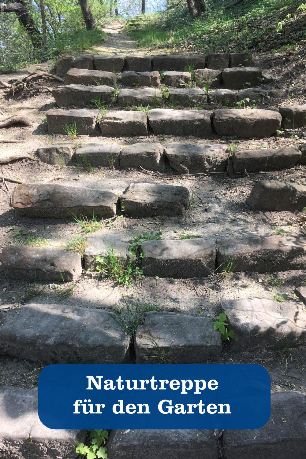 Naturtreppe für Garten