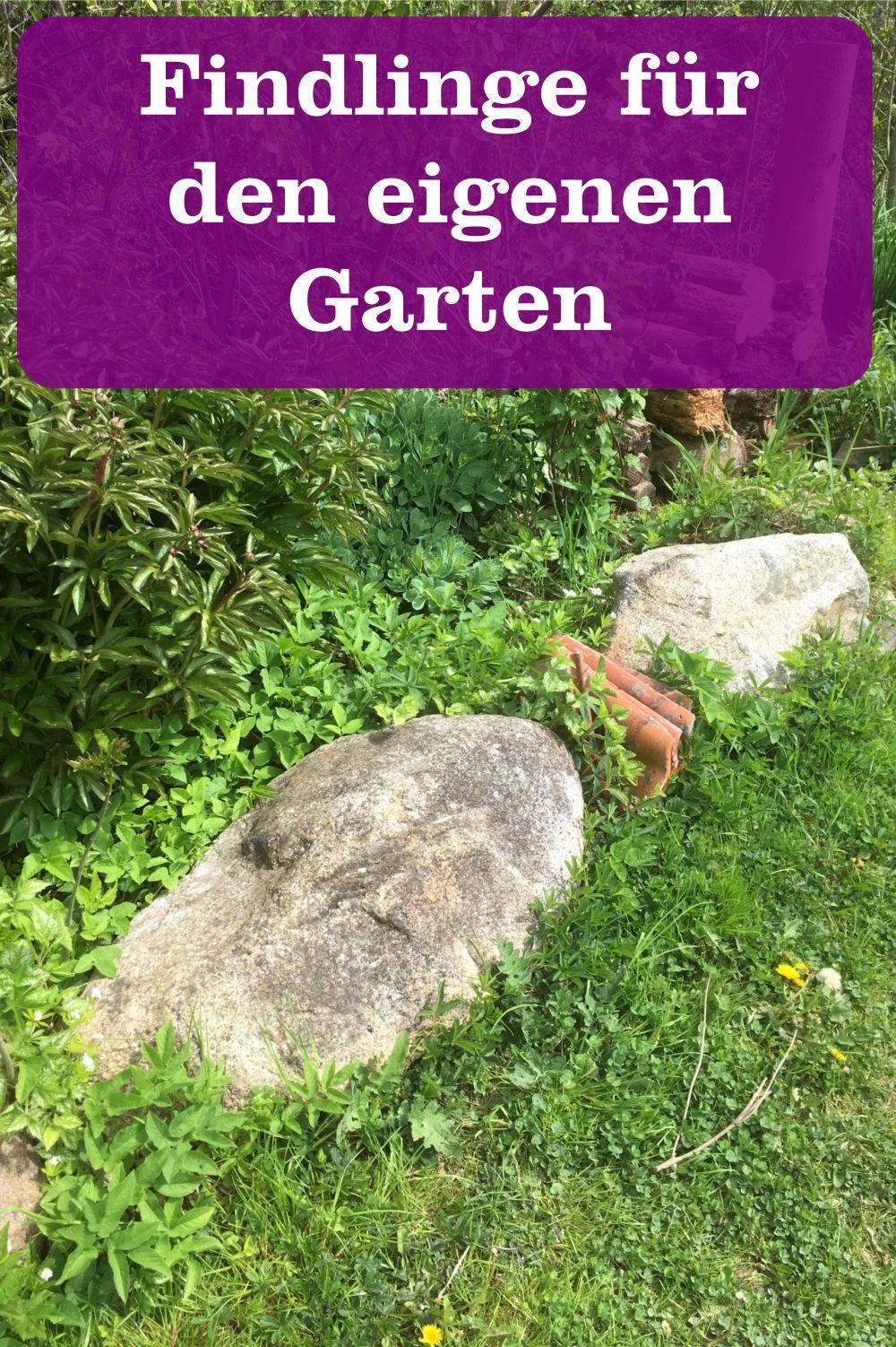 Findlinge für Garten
