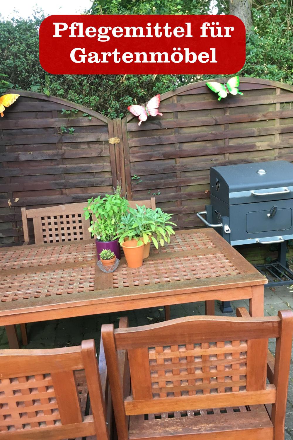 Pflegemittel Gartenmöbel