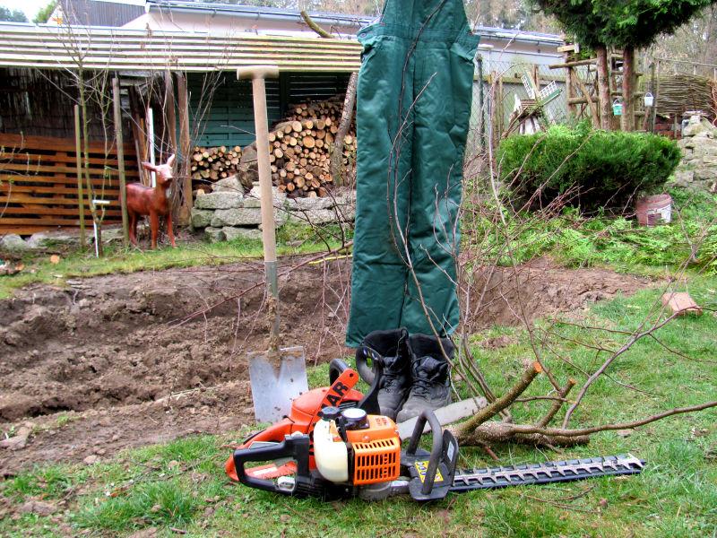 Sicherheit Gartenarbeit