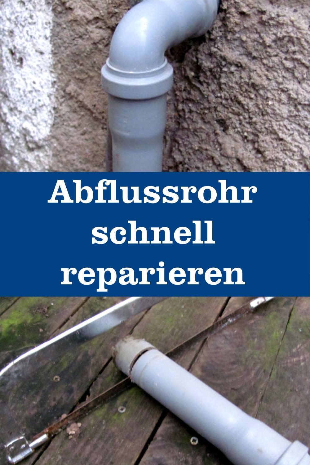 Abflussrohr reparieren