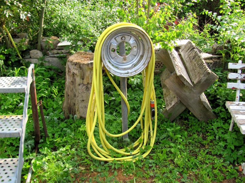 Gartenschlauch aufhängen