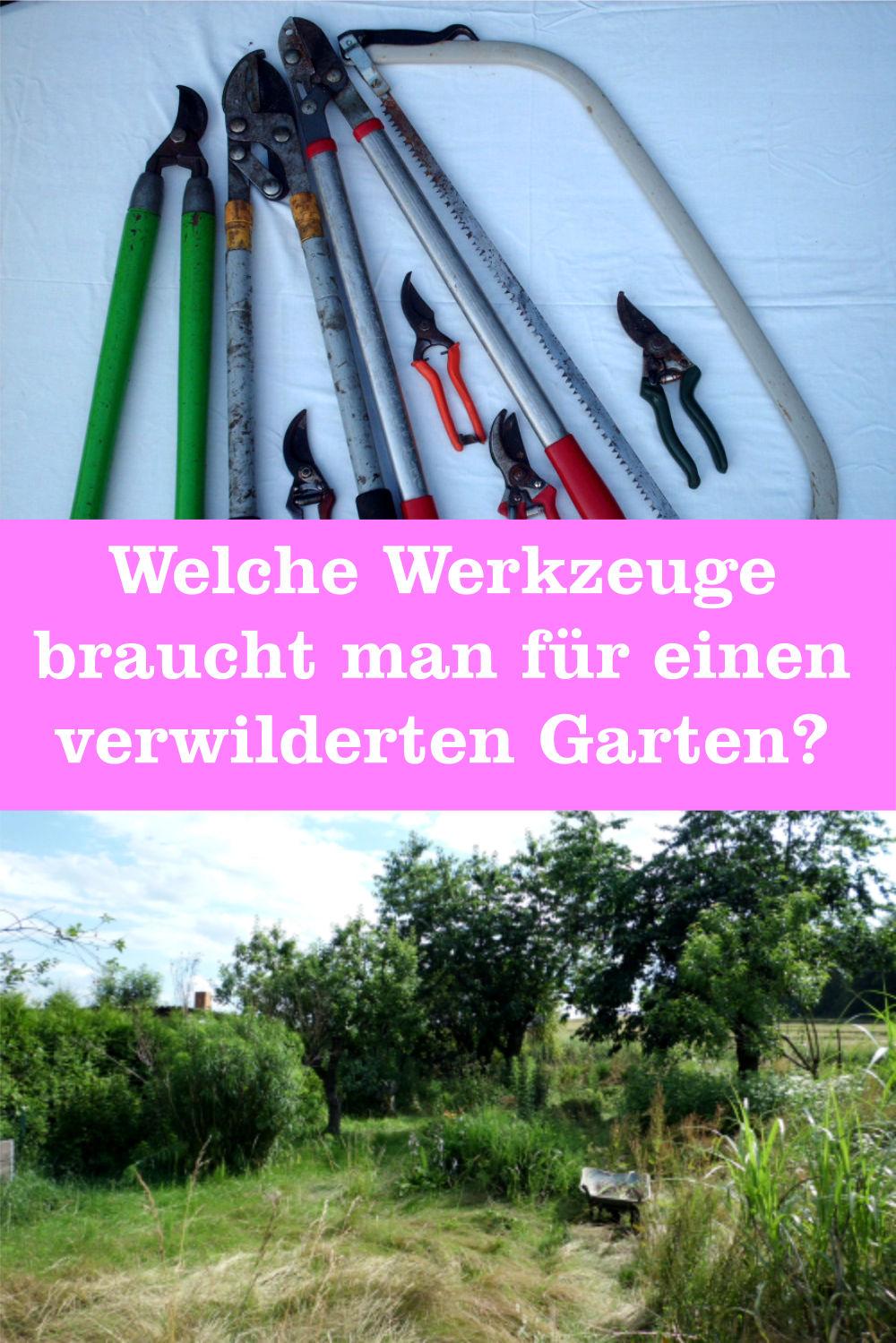 Werkzeuge verwilderten Garten