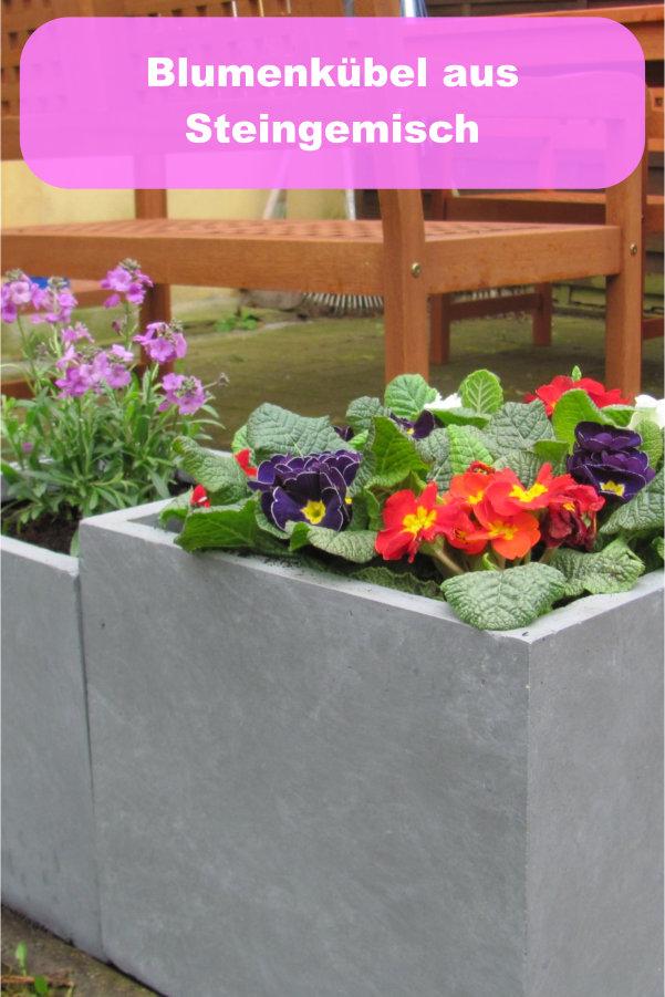 Blumenkübel aus Steingemisch