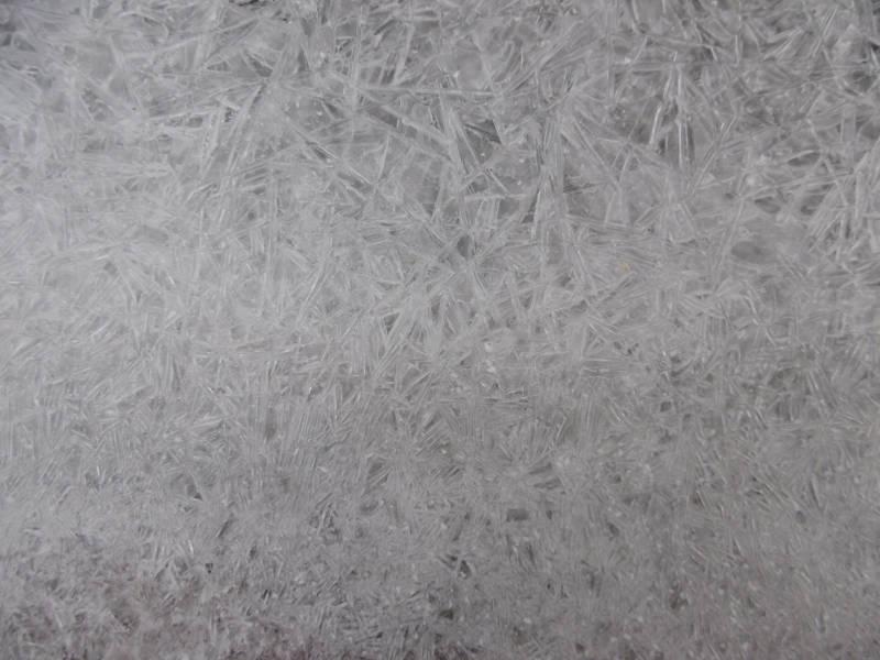 Eis im Gartenteich