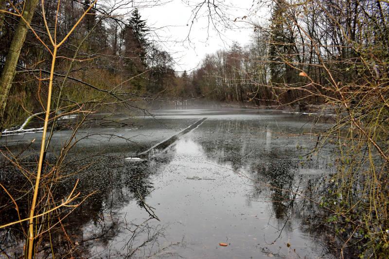 Wasser auf dem Eis