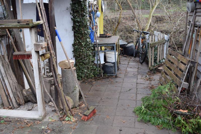 Bastelplatz für Gartendekoration
