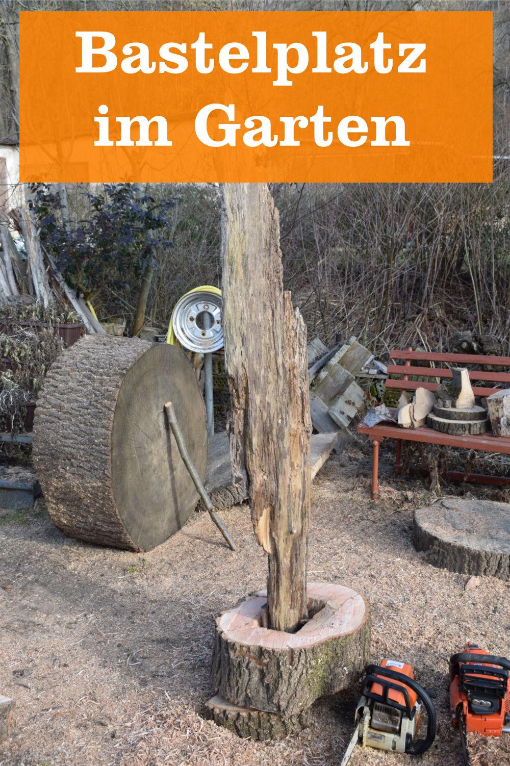 Bastelplatz im Garten
