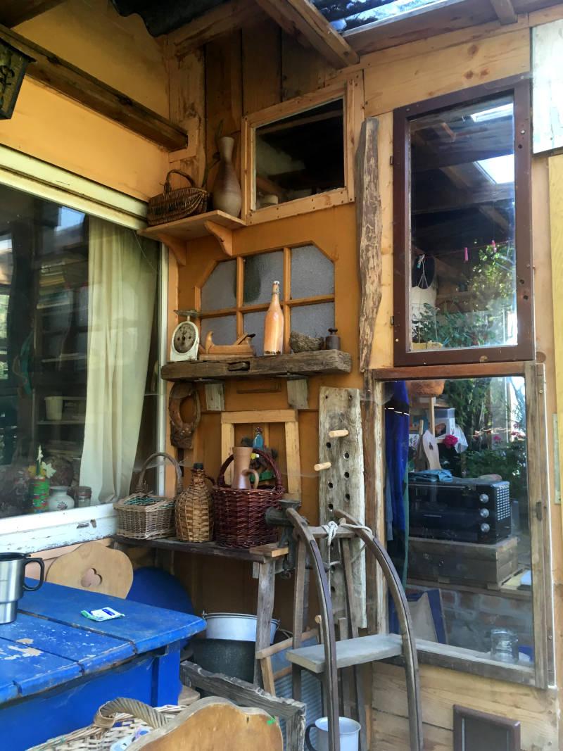 Gartenhaus Dekoration