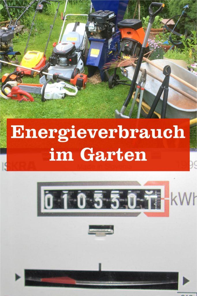 Energieverbrauch Garten