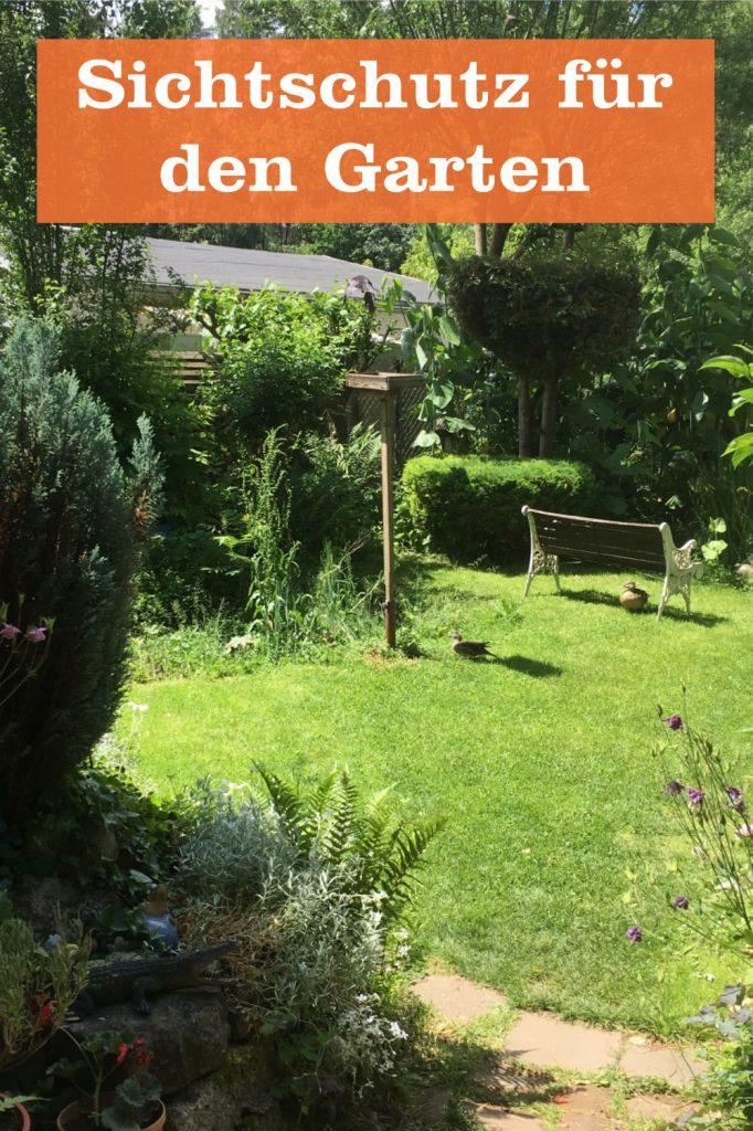 Sichtschutz für Garten